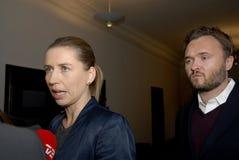 Ms METTE FREDERIKSEN_CHAIRWOMAN AV PARTIET Arkivbilder