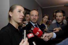 MS.METTE FREDERIKSEN & MARTIN LIDEGAARD Stock Image