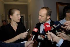 MS.METTE FREDERIKSEN & MARTIN LIDEGAARD Royalty Free Stock Photo