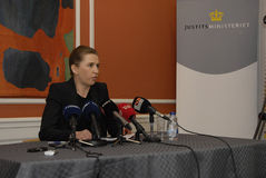MS Mette Frederiksen_minister для правосудия Стоковое Фото