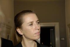 Ms METTE FREDERIKSEN _MINISTER FÖR RÄTTVISA Royaltyfri Bild