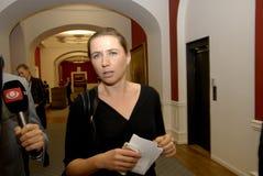 Ms MINISTER FÖR METTE FREDERIKSEN FÖR LAG OCH BESTÄLLNING royaltyfri foto
