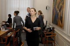 Ms MINISTER FÖR METTE FREDERIKSEN FÖR LAG OCH BESTÄLLNING royaltyfri fotografi