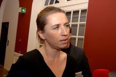 Ms MINISTER FÖR METTE FREDERIKSEN FÖR LAG OCH BESTÄLLNING royaltyfria bilder