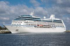 MS Nautica luxury cruise ship, Marshall Islands Royalty Free Stock Photography
