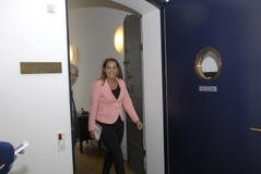 Ms PIA OLSEN DYHR & HOLGER K NIELSEN_SF-PARTI Royaltyfri Foto