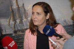 Ms Pia Olsen Dyhr _Leader duńska partia socjalistyczna obrazy stock