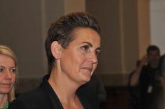 Ms PIA OLSEN DYHR _LEADER DUŃSKI socjalista FOLKEPARTI zdjęcie royalty free