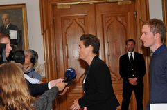 Ms PIA OLSEN DYHR _LEADER DUŃSKI socjalista FOLKEPARTI zdjęcia royalty free