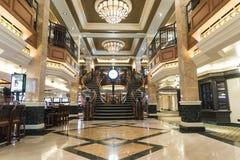 MS Queen Elizabeth Casino Staircase fotografia de stock