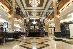 MS Queen Elizabeth Casino Staircase Stock Photography