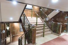 MS Queen Elizabeth da escadaria Imagens de Stock