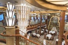 Ms Queen Elizabeth del ristorante di Britannia Fotografie Stock