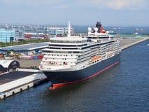 MS Queen Elizabeth in Yokohama stock image