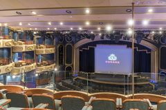 MS real Queen Elizabeth do teatro da corte Fotografia de Stock Royalty Free