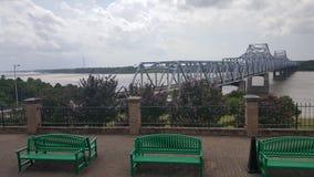MS river bridge. A view of the MS river bridge Stock Photography