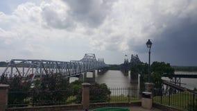 MS river bridge. A view of the MS river bridge Royalty Free Stock Photo