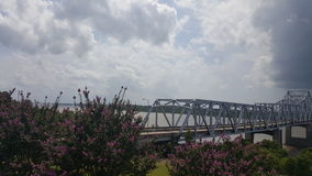 MS river bridge. A view of the MS river bridge Royalty Free Stock Images