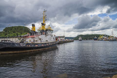 Ms sjøkurs arriving at the port of halden Stock Photos