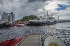 Ms sjøkurs przyjeżdżali przy portem halden Zdjęcia Royalty Free