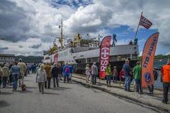 Ms sjøkurs has arrived at the port of halden Stock Images