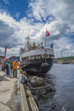Ms sjøkurs has arrived at the port of halden Royalty Free Stock Photo
