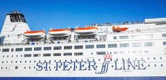 MS SPL Princess Anastasia ferry fragment Stock Photography