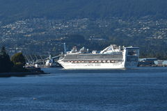 MS Star Princess. VANCOUVER, BC AUGUST 26, 2017. The MS Star Princess from Princess Cruises departs from Canada Place in Vancouver on a cruise to Alaska Stock Images