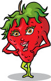 Ms. Strawberry. This is a female strawberry and she's cute Stock Photography