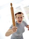 Más vieja mujer enojada Foto de archivo libre de regalías