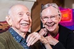 Más viejos pares felices Imagen de archivo libre de regalías