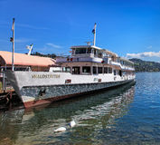 MS Waldstatter on the Lake Lucerne Stock Photo