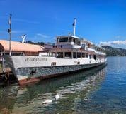 MS Waldstatter na Jeziornej lucernie Zdjęcie Stock