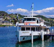 MS Waldstatter at a pier on Lake Lucerne Stock Image