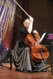 Ms wangmiao play cello Stock Photography