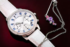 Ms. watch and Jewelry. This is  Ms.watch and jewelry ,very beautifu Royalty Free Stock Photography