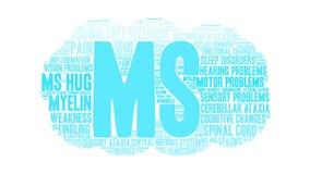MS Word Cloud ilustração do vetor