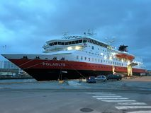MS Polarlys in Trondheim. Royalty Free Stock Photos