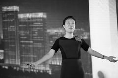 Ms ye tan black and white image Stock Photography