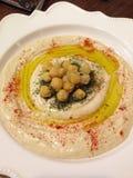 Msabbaha de Hummus Foto de Stock