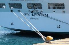 MSC Armonia cruise ship in Piraeus Stock Photography