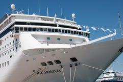 MSC Armonia cruise ship in Piraeus Royalty Free Stock Photography