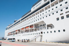 MSC Armonia cruise ship in Piraeus Stock Photography