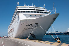 MSC Armonia cruise ship in Piraeus Royalty Free Stock Photography