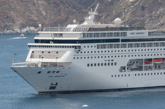 MSC Armonia in Santorini Stock Photo