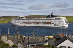 MSC Cruise ship in Scotland Royalty Free Stock Photography