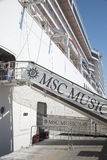 MSC Musica cruise ship Royalty Free Stock Photography