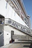 MSC Musica statek wycieczkowy Fotografia Royalty Free