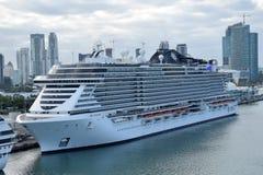 MSC nadmorski statek wycieczkowy zdjęcie royalty free