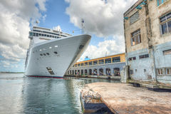 The MSC Opera cruise ship docked at the port of Havana. HAVANA,CUBA - DECEMBER 22,2015 : The MSC Opera cruise ship docked at the port of Havana showing the Royalty Free Stock Photography